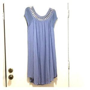 Free People Sundancer Dress NWT Cloud Blue Lg